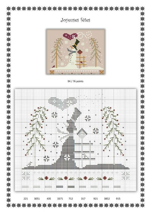 Gallery.ru / Photo # 187 - Winter - gada   Point de croix... Grilles ...