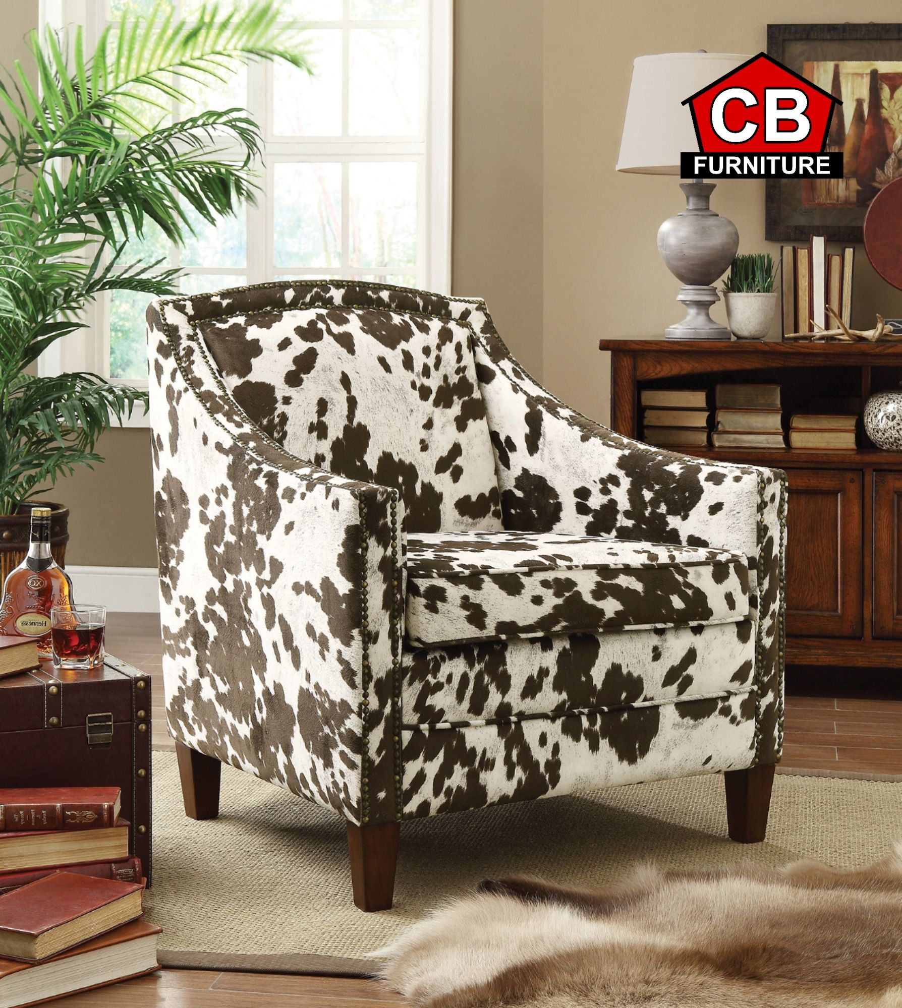 Add a unique accent chair to your home with the adele