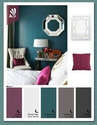 Love these colors for our room