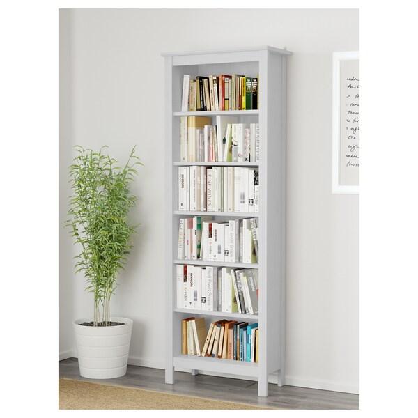Brusali Bookcase White 26 3 8x74 3 4 In 2020 White Bookcase Bookcase Shelves