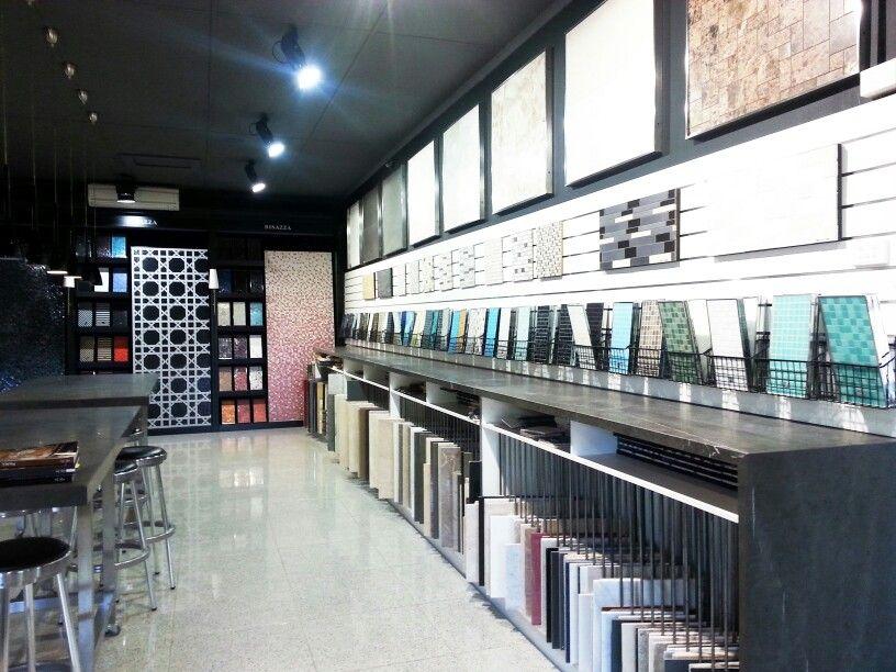 Bisazza showroom upstairs at the perini tile showroom - Interior design tiles showroom ...