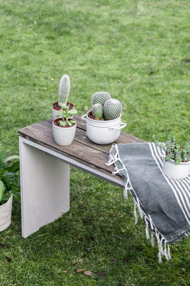 DIY Gartenbank selber bauen - ein Upcycling Projekt mit Altholz