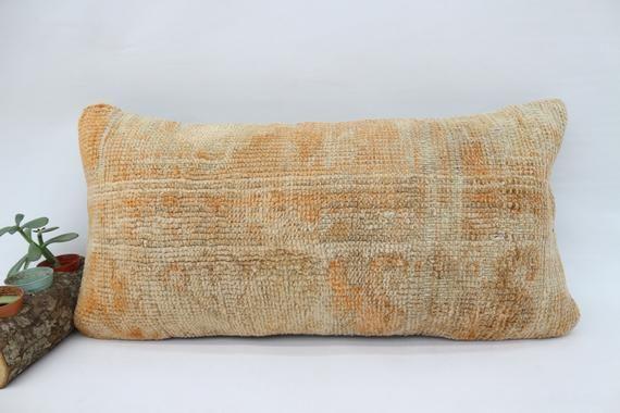 Armchair Pillow,12x24 Handwoven Rug Pillow,Neck Pillow, Embroidered Pillow,Pillow Cover,Navajo Pillo