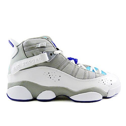 93f93e3f68d1 Air Jordan 6 Rings Womens Girls Medium Grey White Vivid Blue Concord  323399-041