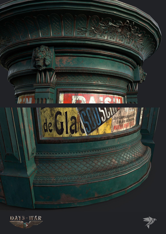 ArtStation Days of War Advertisement Kiosk, Mark Ranson 배경