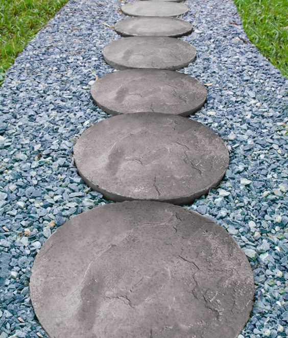 Wetcast Round Patio Blocks Make For Great Paths!