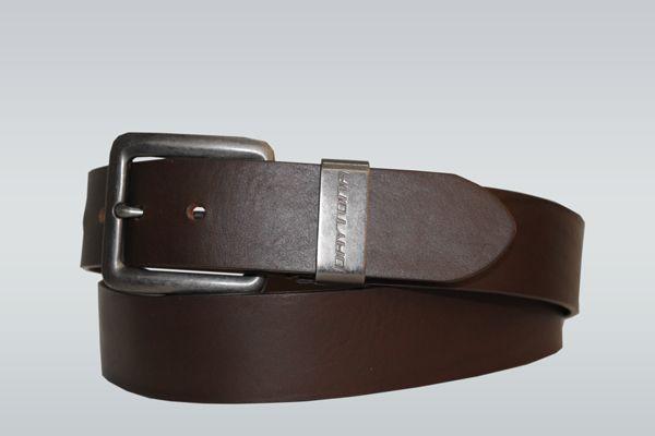 Ceinture en cuir de vachette marron avec boucle en métal pour homme Daytona  73   Brown 64f31b715b5