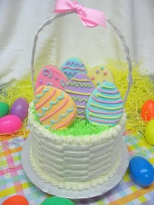 Easter basket cake this easter basket cake is a centerpiece cake i cake decoration ideas on easter basket cake picture negle Gallery