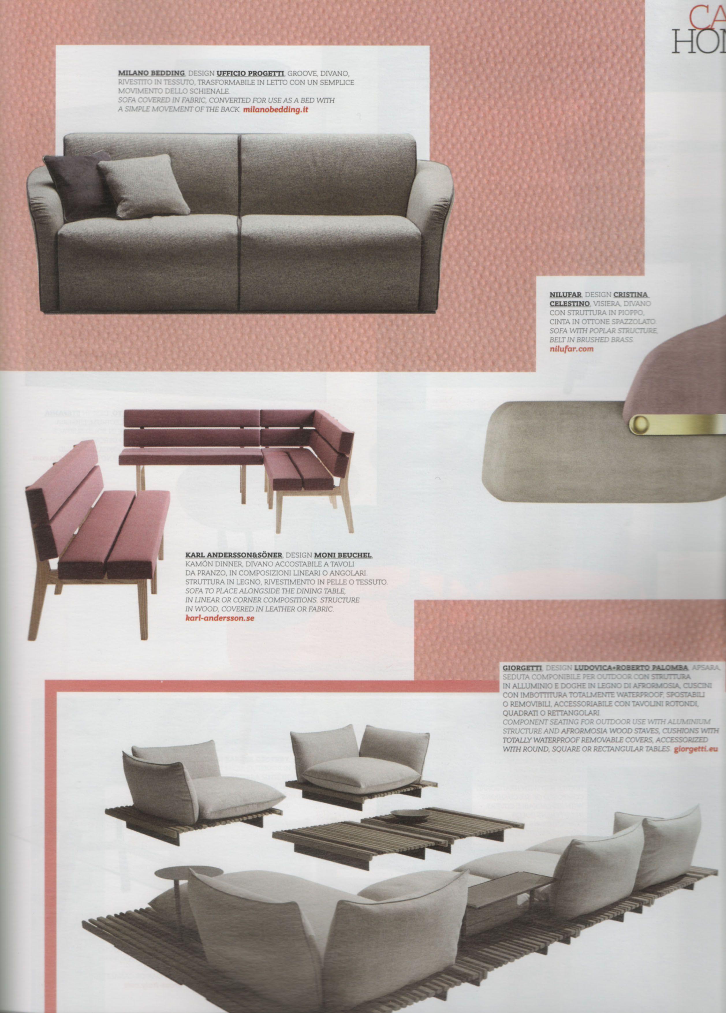 Divani Letto In Pelle Milano.Interni King Size Magazine Sofa And Sofa Bed By Milano Bedding