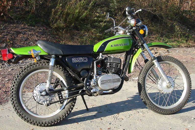 moto kawasaki f 11 trail bike moteur 250 monocylindre deux temps