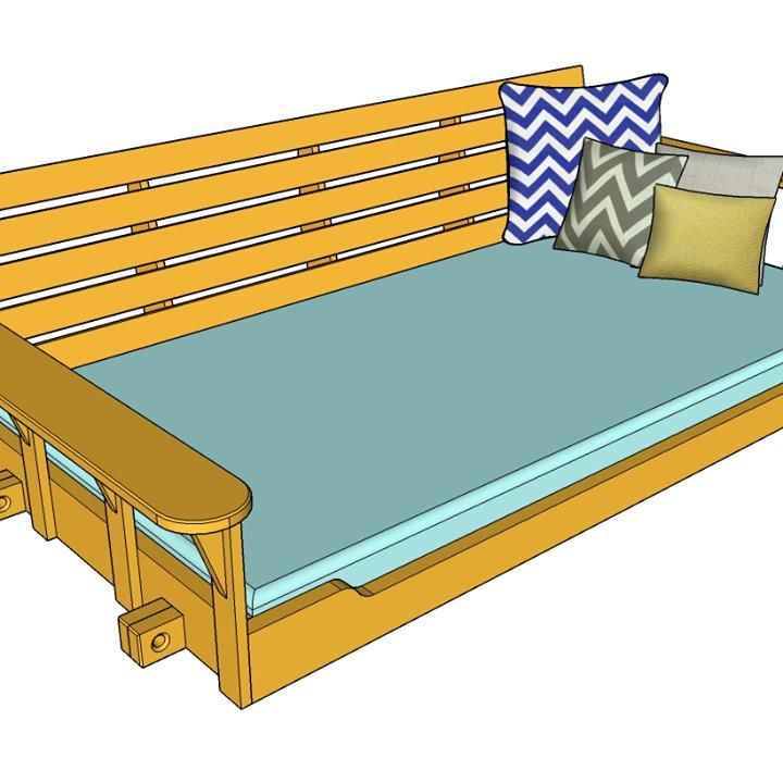 Build a Porch Bed Swing Plans and Video How-To Hammocks and