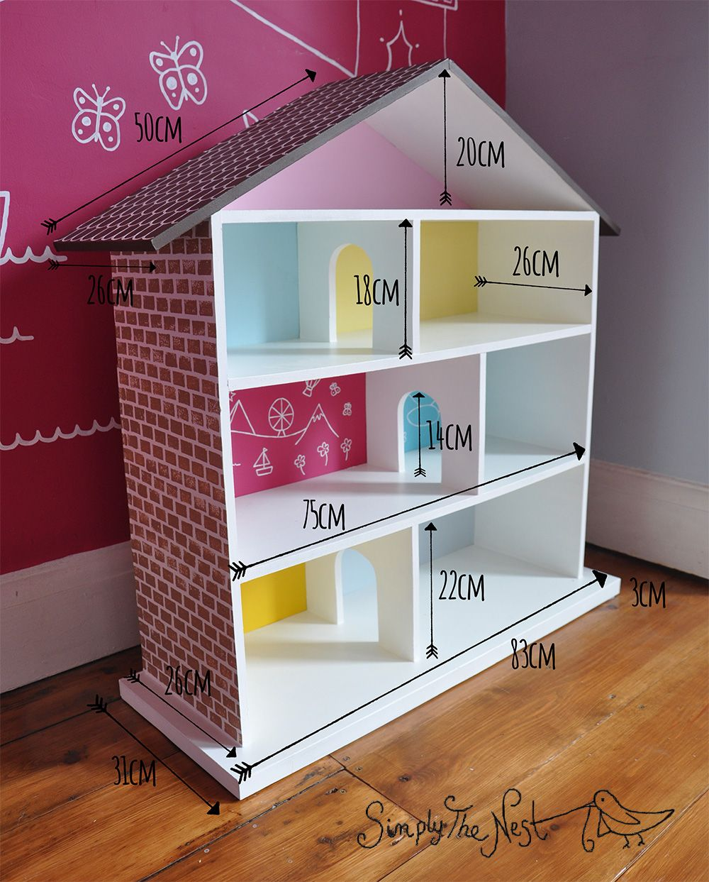 diy maison de poup e construire soi m me a diy dollhouse project by simply the nest a uk. Black Bedroom Furniture Sets. Home Design Ideas