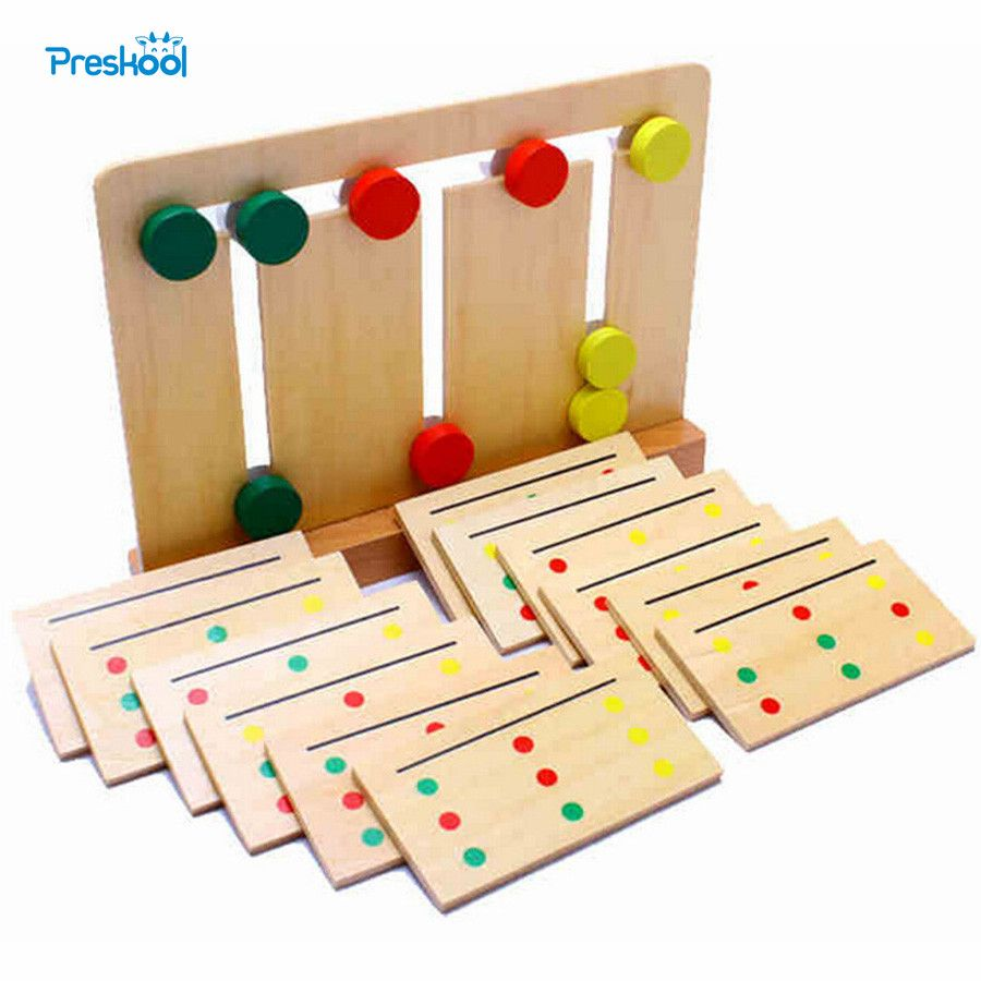 Wooden toys images  Check Price Baby Toy Montessori Wooden Toy Teaching Three Color