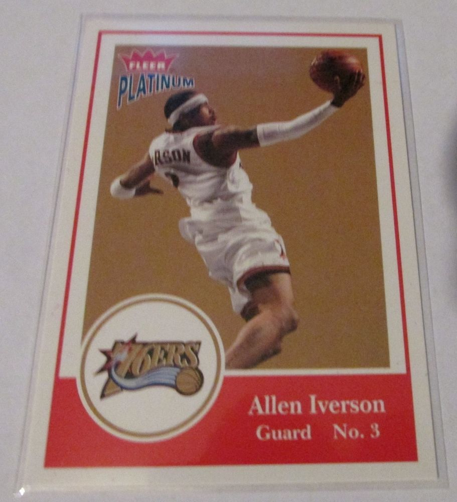200304 fleer platnum allen iverson basketball cards