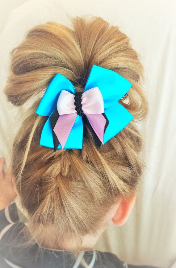 Layered Hair Bow Clip 3 1/2 inch by TeensyThings on Etsy, $2.50