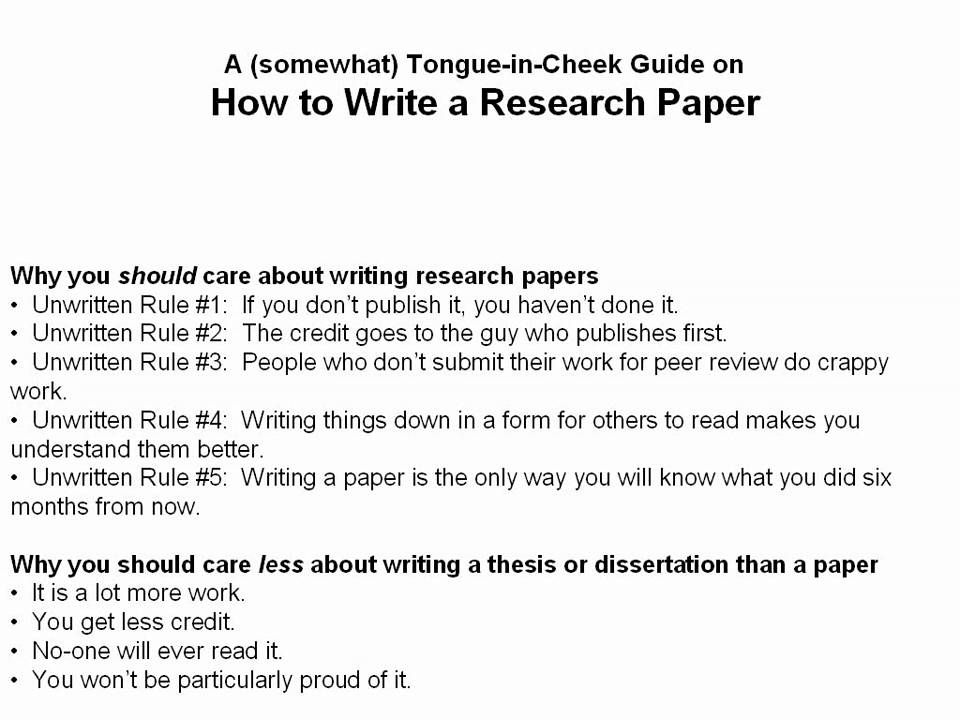 Science writing FEATURE ARTICLE The Science of Scientific - how to write a research paper
