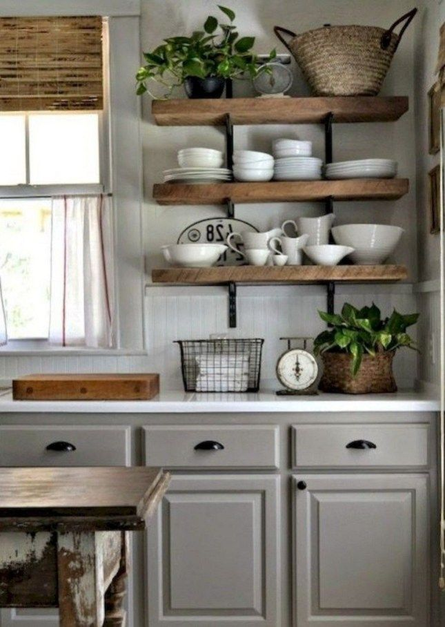 35 beautiful organized farmhouse kitchen decor ideas country kitchen designs rustic country on kitchen decor themes rustic id=40970
