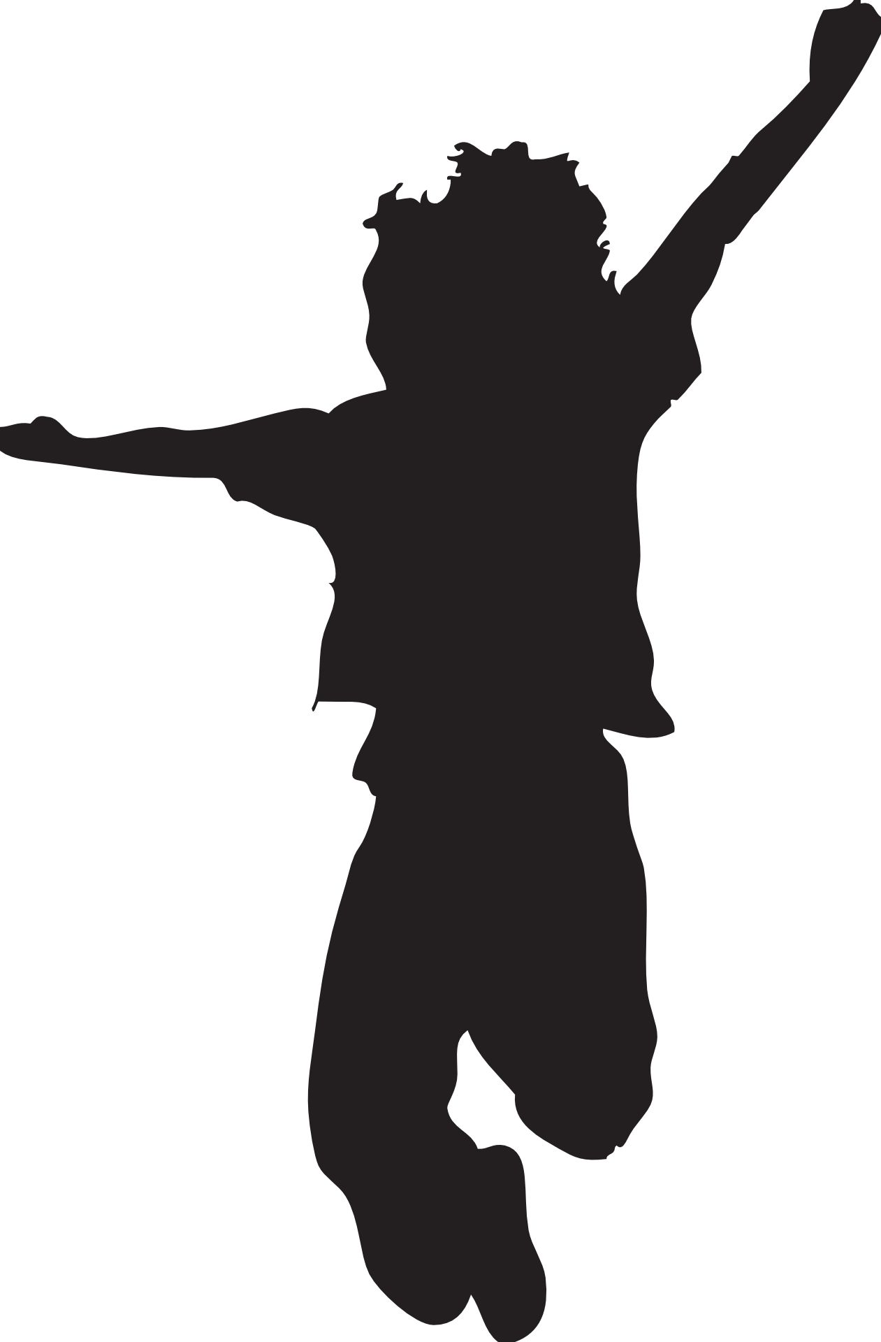 jumping silhouette clipart clipart kid daven s 9th birthday rh pinterest com clipart jumping jacks jumping clipart silhouette