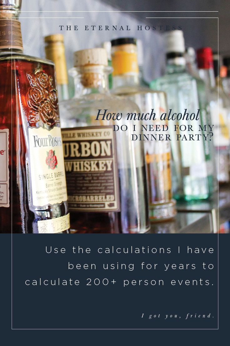 How Much Alcohol Do I Need for my Dinner Party | Alcohol ...