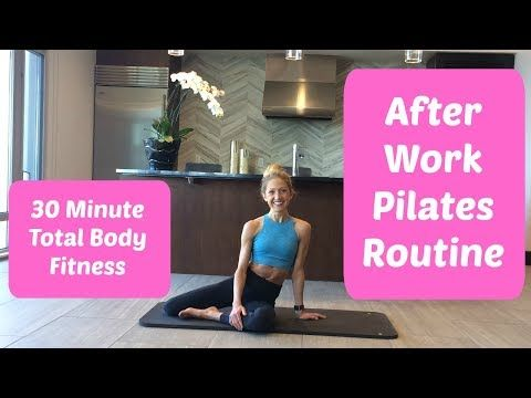 After Work Pilates Routine to Re-Lengthen and Reset Your Body #pilatesworkoutvideos