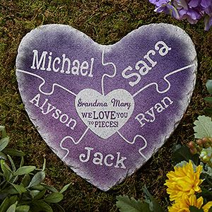 Together we make a family personalized garden stone stone heart buy personalized garden stones with our heart shaped together we make a family design and workwithnaturefo