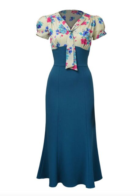 3dd8a7ced24e En skøn 1930 er inspireret kjole med overdel i lys