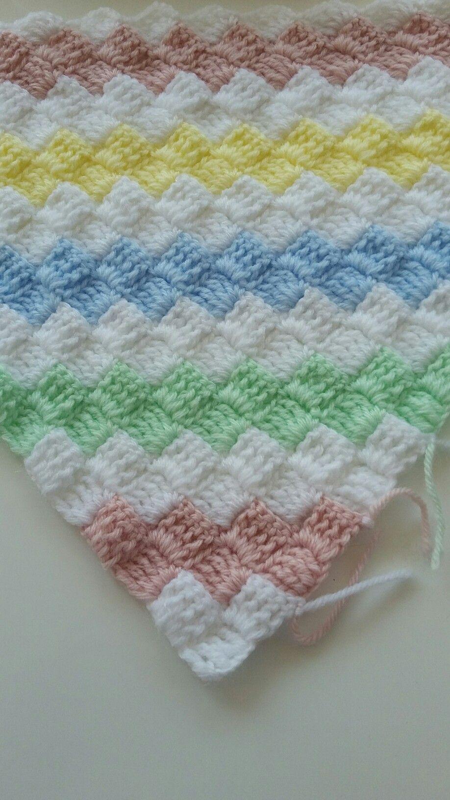 Renkli Bebe battaniyesi