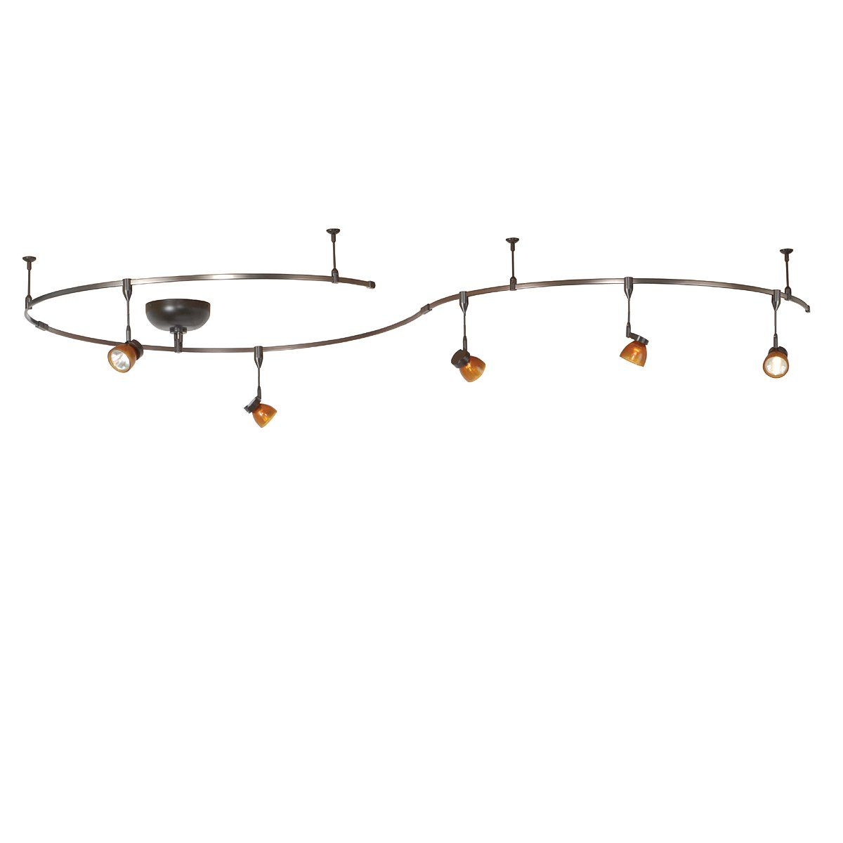 monorail lighting systems. WAC Lighting LM-K8111-AS/DB 5 Light Monorail Kit, Amber Systems U