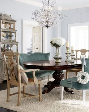 Horchow Marie Dining Table Brumley Banquette