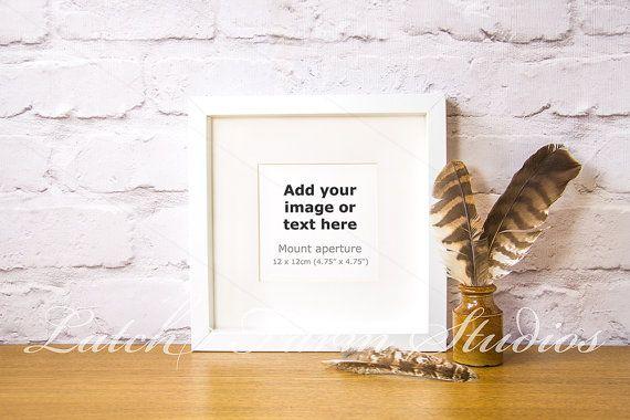Free Mockup Frame Feathers Ink Pot White Square Box 12 Psd Free Psd Mockups