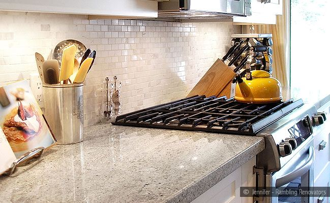 Backsplash Ideas for Granite Countertops White Marble Mosaic