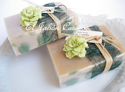 Jabón artesanal Hojas de Olivo : El Jabón Casero