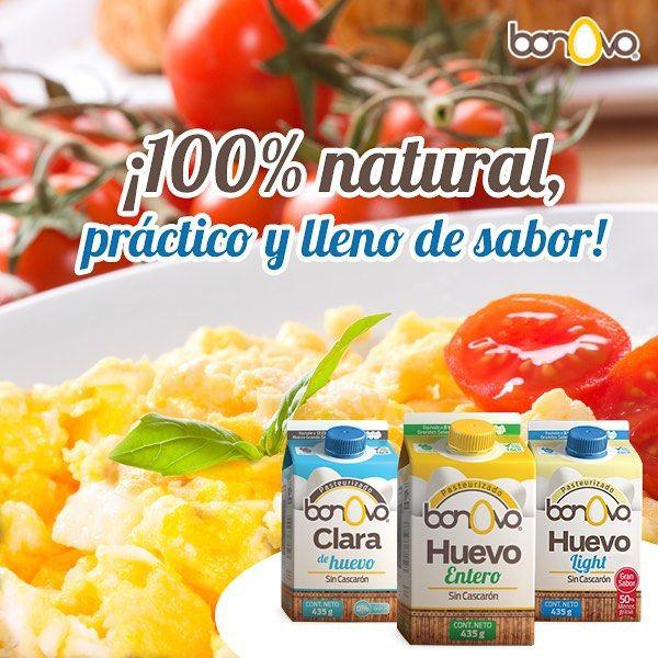 ¡100% natural, práctico y lleno de sabor! #Bonovo #SaldelCascarón #Huevos #Cocina #Food #Comida #Saludable #Delicioso
