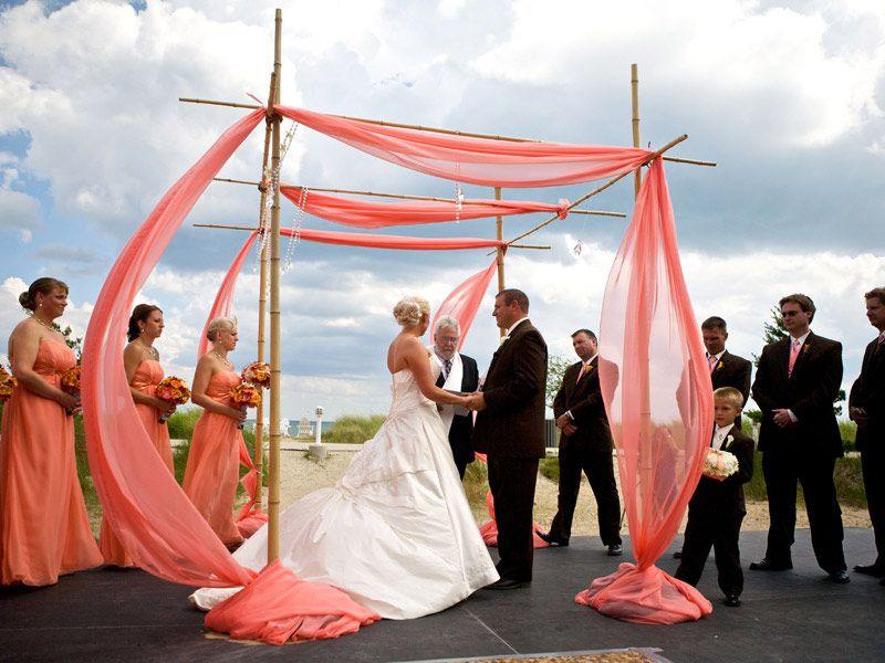 Bamboo Arbor - DIY Wedding Ideas | Coral Wedding Theme | Pinterest ...