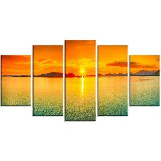 Designart Sunset Panorama Photography Metal Wall Art In 2021 Panorama Photography Design Art Wall Art
