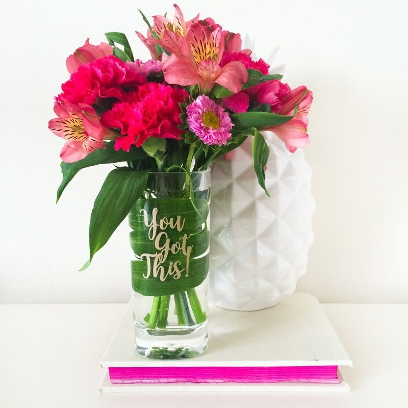 Acrylic Flower Vase With You Got This Slogan This Fun 16oz Tall