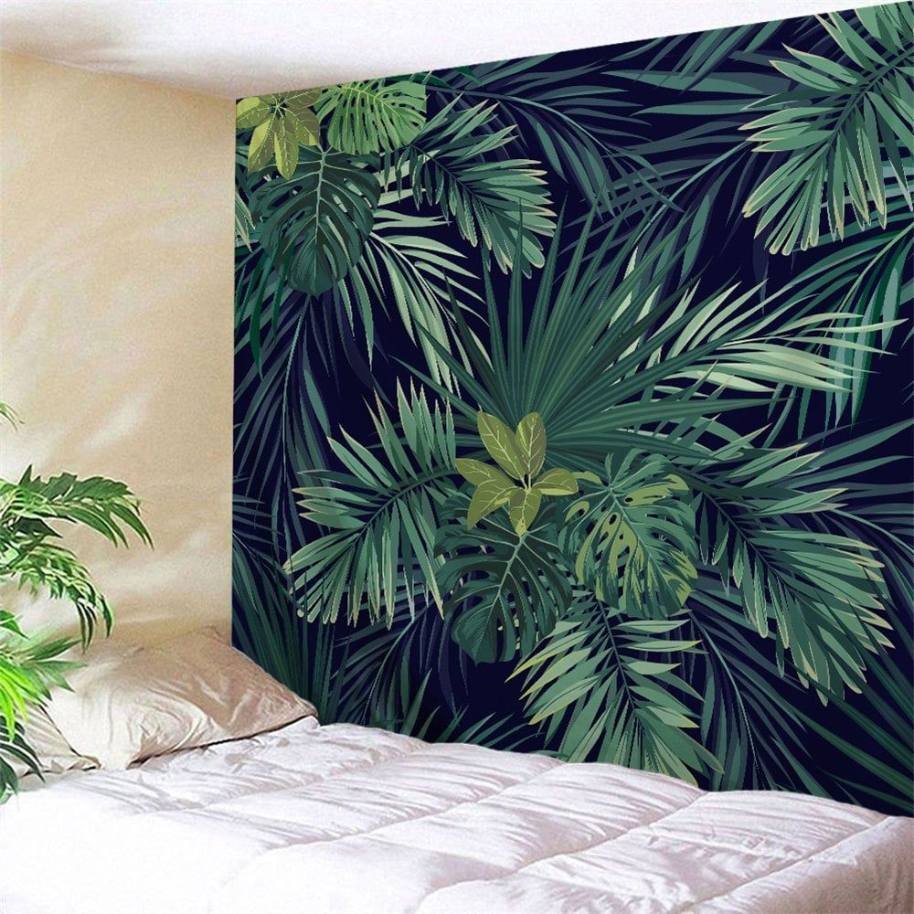 Palm Plants Printed Wall Art Hanging Tapestry Leaf Wall Art Hanging Wall Art Wall Tapestry