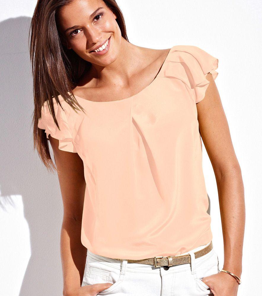 Blusa seda manga mariposa qualit premium mujer moda mujer - Blusas de ultima moda ...