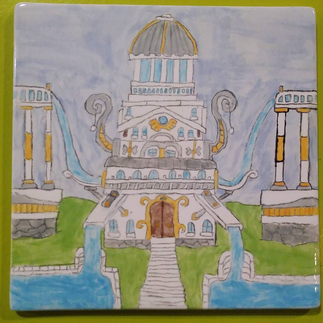 An amazing ceramic tile of the taj mahal ceramics diy an amazing ceramic tile of the taj mahal ceramics diy handpainted bisque dailygadgetfo Choice Image