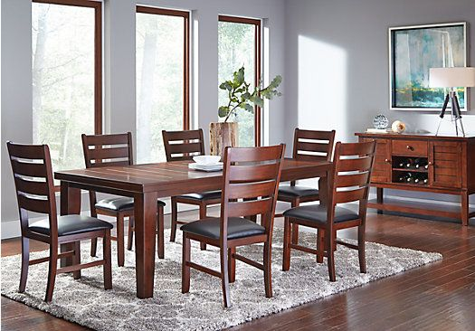 Lake Tahoe Brown 5 Pc Rectangle Dining Room $58800Find Impressive Rooms To Go Dining Sets Design Inspiration