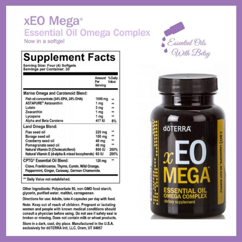 Ingredients For Doterra Xeo Mega Lifelong Vitality Supplements
