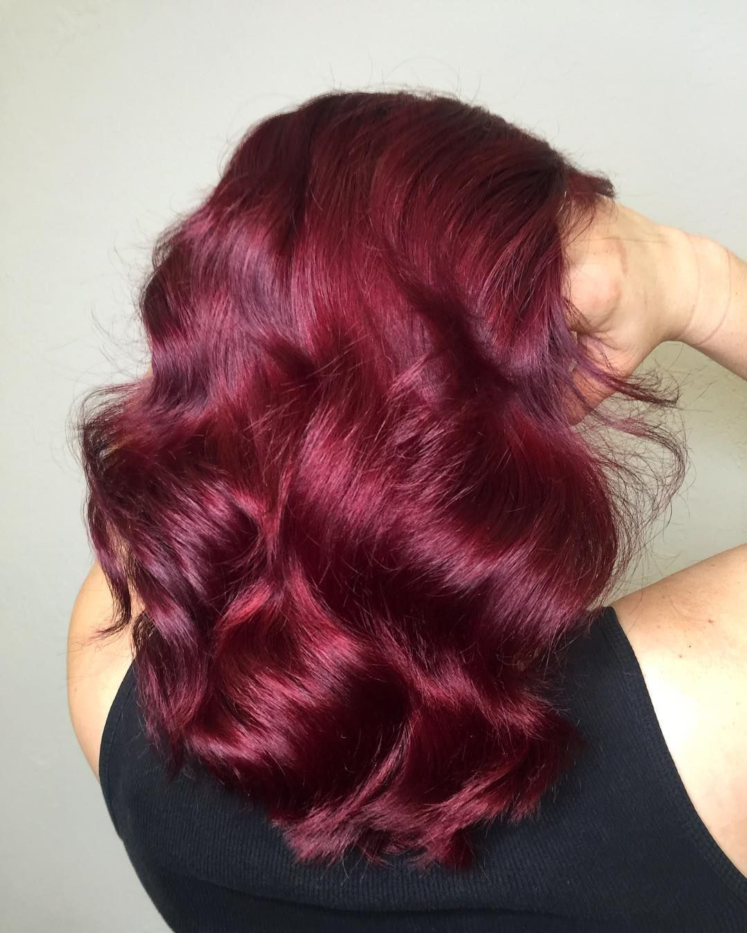 Fun with Plum  hairr love  Pinterest  Hair coloring Bright red