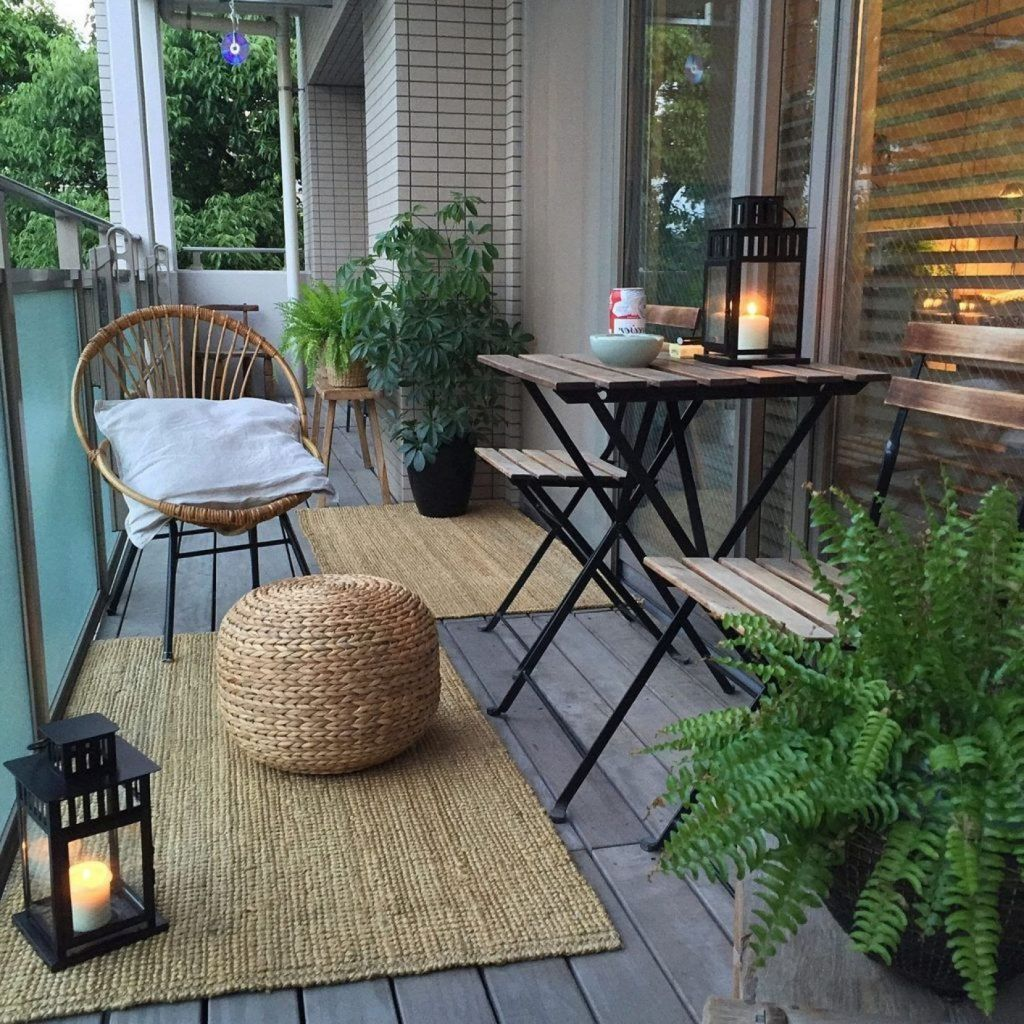 80 Small Apartment Balcony Decorating Ideas - Small patio decorating ideas - Honorable BLog #smallbalconydecor