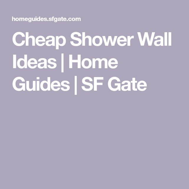Cheap Shower Wall Ideas | Shower wall, Wall, Shower