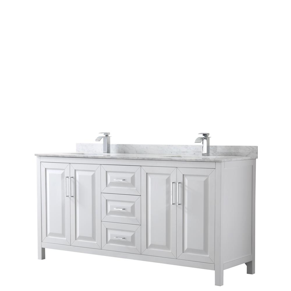 Wyndham Collection Daria 72 In Double Bathroom Vanity In White