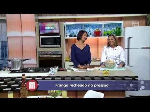 Frango Recheado na Pressão, com recheio de estrogonofe!!!