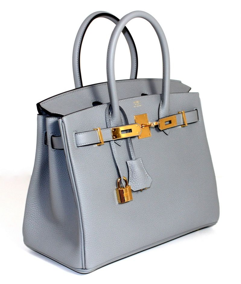 e788151e0927 Hermès Grey Gris Mouette 30 cm Togo Birkin Gold Hardware