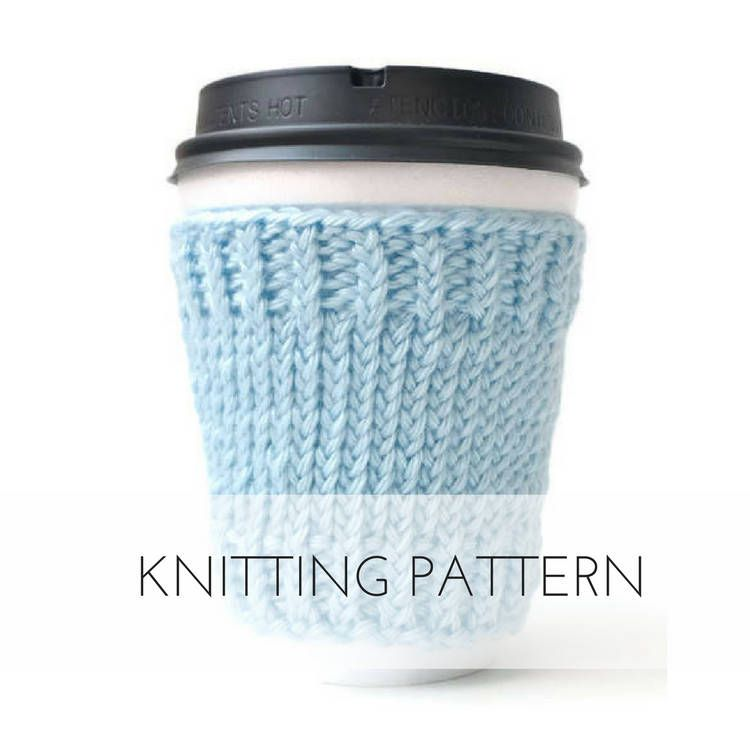 Coffee Sleeve Knitting Patterns Gift Printable Pdf Coffee Cup