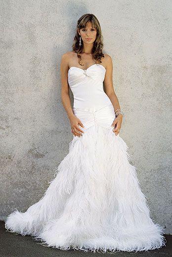 Feather Wedding Dress Wedding Dress With Feathers Feather Bottom Wedding Dress Designer Wedding Dresses