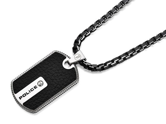 Police pj25492psb01 stainless steel hybrid leather tag necklace police pj25492psb01 stainless steel hybrid leather tag necklace 019822 aloadofball Gallery